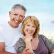 Mature couple smiling — Stok fotoğraf #8730215
