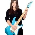 Adorable girl whit electric guitar — Stock Photo #9435313