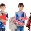 Many children students returning to school — Stock fotografie #9628468