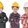 Adorable engineering team — Stock Photo #9628739