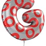 illustration 3d de lettre g ballon — Photo #9515643
