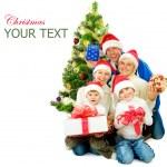Christmas Family isolated on white — Stock Photo #10676137