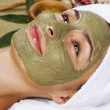 Spa Facial Mud Mask. Dayspa — Stock Photo #10747231