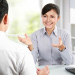 Business talking on business meeting — Stock Photo #11145616