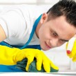 Male doing cleaning — Stock Photo #19846665