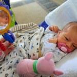 Konsept fotoğraf - gebelik bebek ve anne baba — Stok fotoğraf #10858471