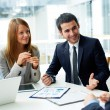 Business partners discussing documents — Stockfoto #21186915