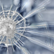 Cracks in an armoured glass — Stock Photo #11494052