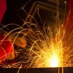 Welding sparks — Stock Photo #13758864