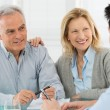 Senior Couple Talking With A Consultant — Stock Photo #25144735