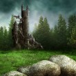 Fantasy meadow with a tower — Stock Photo #13027568