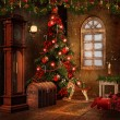 Christmas room with toys — Stok fotoğraf #13526260