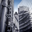 Famous skysrcapers in the financial district of London — Stock Photo #13315886