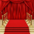 Gold stanchions and a red carpet — Foto Stock #14337397