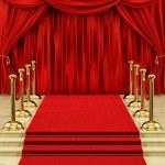 or chandeliers et un tapis rouge — Photo #14337397