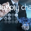Supply chain management concept by flow from supplier to custome — Stock Photo #29300045
