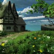 Old cottage in spring — Stock Photo #17383155
