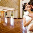 Young happly couple at their new house — Stock Photo #19290007