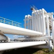 Industrial pipe with gas and oil and water — Stock Photo #33892405