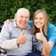 Great Mood at the Nursing Home — Stock Photo #50544053