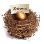 Retirement savings golden nest egg — Stock Photo #24522111