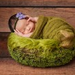 Portrait of a Sleeping Newborn Girl — Stockfoto #29869047