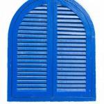 Vintage wooden blue window — Stock Photo #34340155