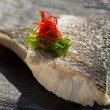 Steamed organic fish fillet — Stock Photo #43979743
