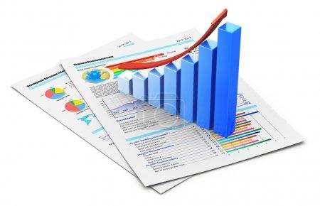 Business financial success concept