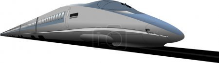 Shinkansen bullet train. Vector illustration