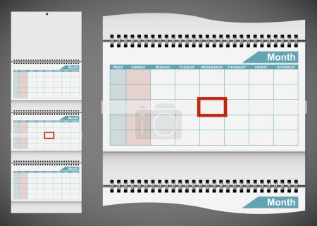 孤立在艾菲尔铁塔的灰色背景上的空白标准墙日历模板_高清图片_邑石网