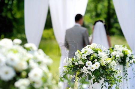 White flowers wedding decorations