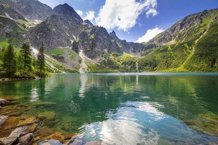 Eye of the Sea lake in Tatra mountains