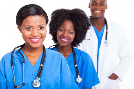 group of african medical workers