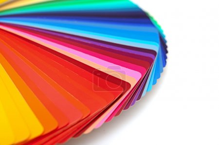 Rainbow color palette isolated on white