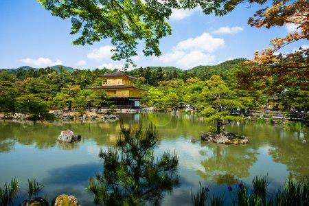Famous Golden Pavilion Kinkaku-ji in Kyoto Japan