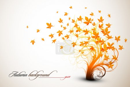 Autumn Tree - Clean Vector Composition