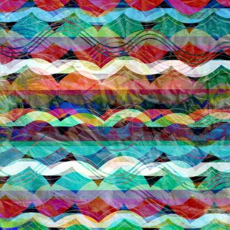 与条纹波浪抽象背景