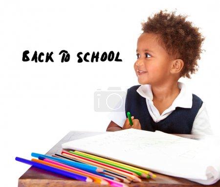 回学校概念