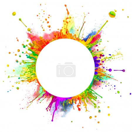 Abstract colored splashes