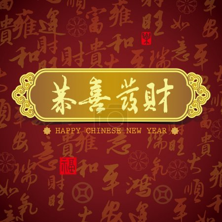 Chinese New Year greeting card background: Wishing you prosperit