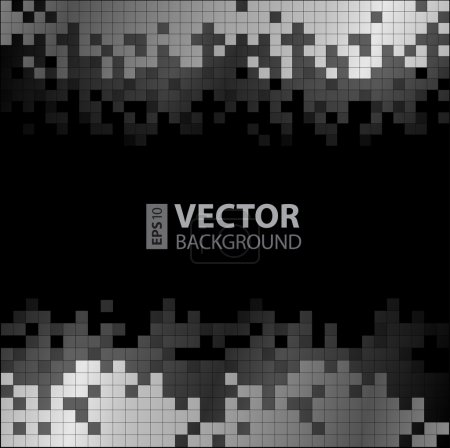 Abstract digital background with grayscale pixels equalizer.