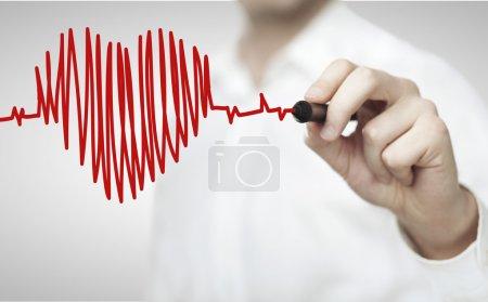 drawing chart heartbeat