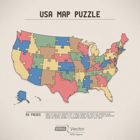 美国地图拼图_正版图片_高清图片_图片下载_yestone邑