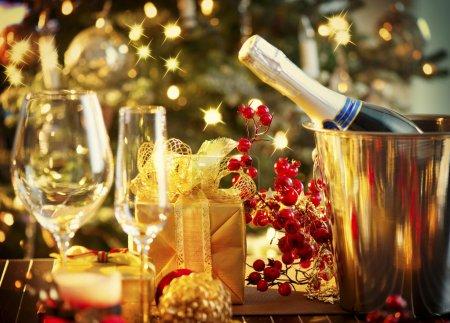 圣诞节和新年假期表设置。庆祝活动