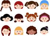 图标: 女童、 妇女、 孩子们的头
