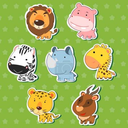 可爱动物贴纸 09