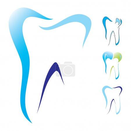 抽象矢量插画的牙齿为图标