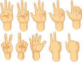 手标志集合-计数的手势