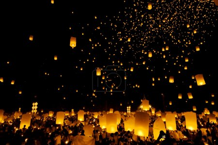 Floating lantern Festival in Chiangmai, Thailand